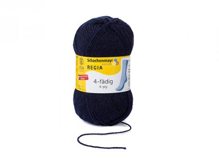 Regia Sockenwolle 4fädig - Marine