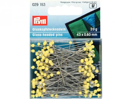 Prym Glaskopfnadeln ST 0,60 x 43 mm gelb