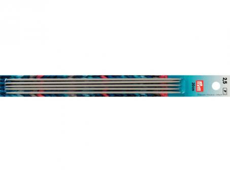 Prym Strumpfstricknadeln ALU 20 cm 2,50 mm grau