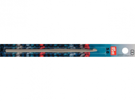 Prym Woll-Haekelnadeln o. Griff ALU 14 cm 5,00 mm grau