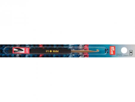 Prym Woll-Häkelnadeln Soft-Griff ALU 14 cm 3,50 mm silberfarbig