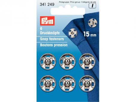 Prym Annähdruckknöpfe MS - 15mm (silber)