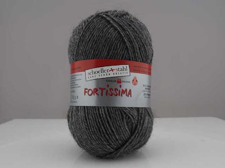 Fortissima Sockenwolle - mittelgrau mel. mittelgraumelier