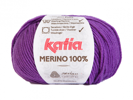 Katia Merino 100% - Dunkellila