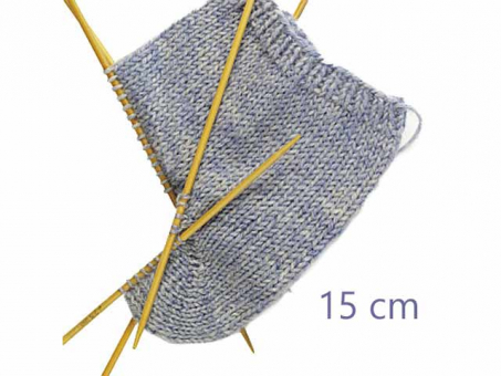 Strumpfstricknadeln Bambus 15 cm