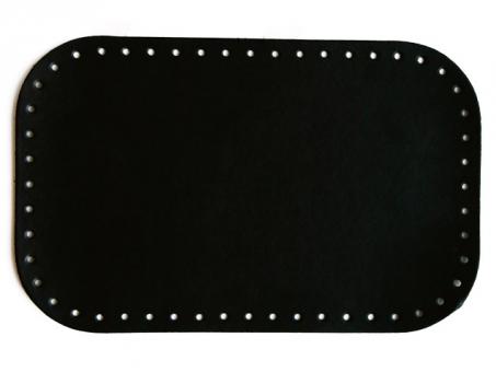Taschenboden Ecoline 18x28cm-schwarz