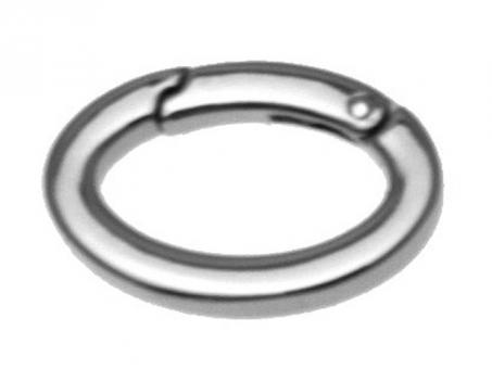 Karabiner oval quadratischer Querschnitt-nichelato 22mm Querschnitt-nichelato 22mm