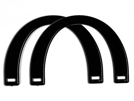 Taschengriffe paarweise , 17x12cm-schwarz