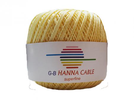 Hanna Cable - Zartgelb