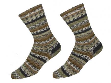"""KKK Sockenwolle """"Sensitive Socks"""" für Wollallergiker -  Braun-beige-grau"""