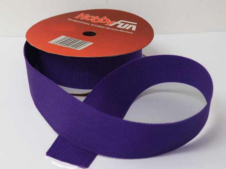 Gurtband 25mm (Polyester) - Dunkellila