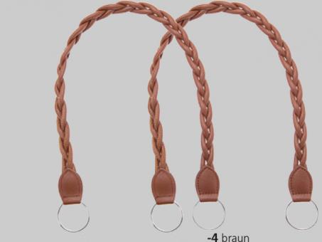 Taschengriffe Kunstleder (paarweise) 62cm Cappucino