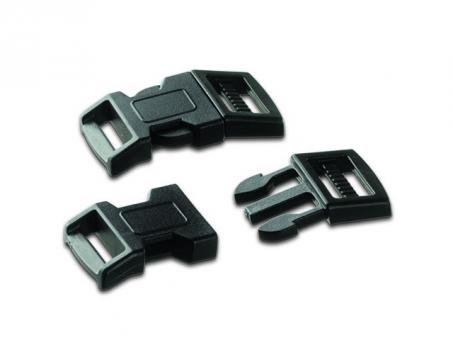 Steckschnalle- .schwarz-16 - 20 mm-
