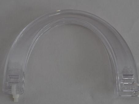 Taschengriffe paarweise, 16x11,5cm trasparent