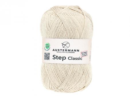 Step Classic Sockenwolle - Sand mel. sandmeliert
