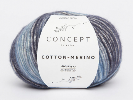 Cotton Merino Plus - Blau