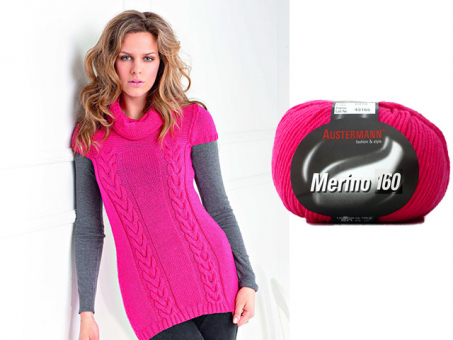 Anleitung  Modell 17 Long Pullover Merino 160