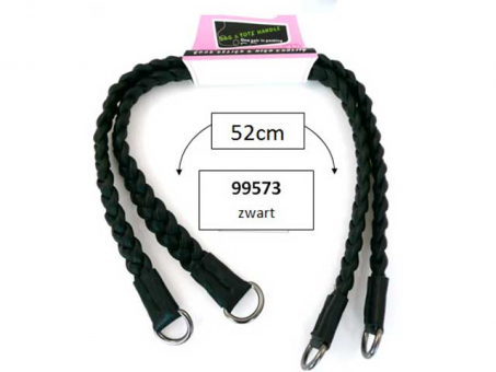 Taschengriffe Kunstlederpaarweise 52 cm schwarz