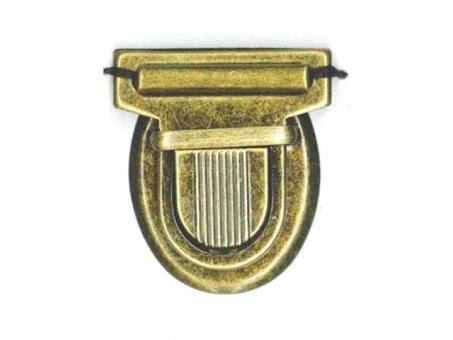 Taschen Schnappverschluss altkupfer