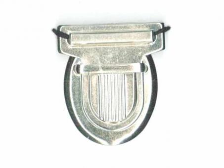 Taschen Schnappverschluss silber