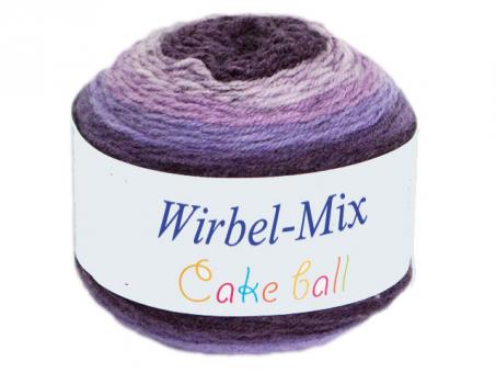 Wirbel Mix (Cake Ball) - Blau-Beige lila-blau-beige