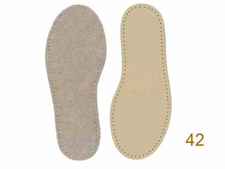 Filzsohle (Paar) für Hüttenschuhe GR.42