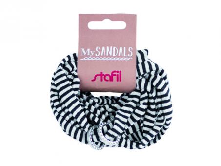 MySANDALS Sandalenband - Schwarz/Weiß