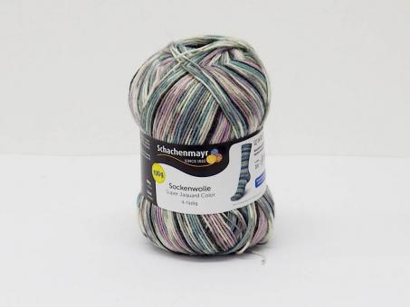 Super Jacquard Color - Lila-Weiß-Grau blumenkinder-720
