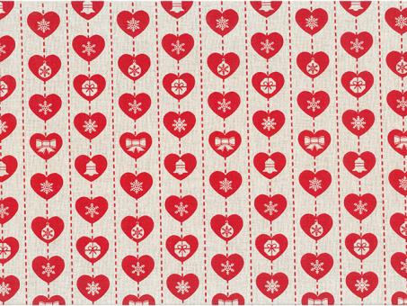 Baumwollstoff 280cm breit Herz-rot-Geschenk