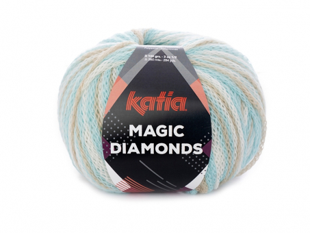 Magic Diamonds - Meerblau-Beige