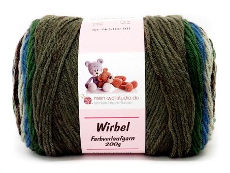 Wirbel - Grau-Braun-Türkis grün-braun-türki