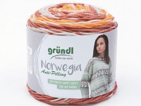 Norwegia orangebraun-natur-weiß-kupferbra
