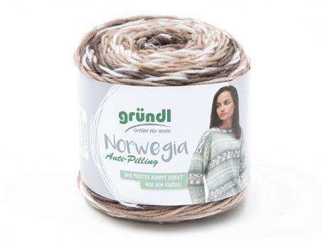 Norwegia graubraun-beige-natur-weiß