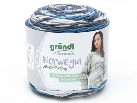 Norwegia schiefergrau-natur-weiß-blaugrau