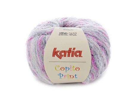 Copito-Print .Weiß-Grau-Rosa