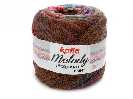 MELODY JACQUARDPRINT .marrón-nar.verd.lila