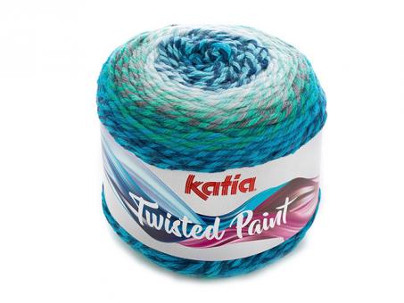 Twisted Paint .Türkis-Grau