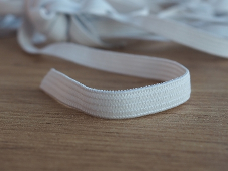Gummilitze 6 mm breit weiss Meterware