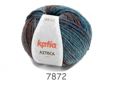 AZTECA blau-braun blau-brau