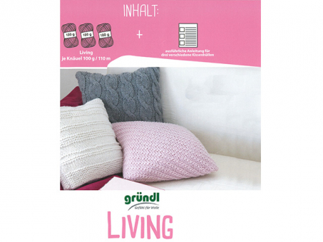 Materialpackung Living Sofakissen grau