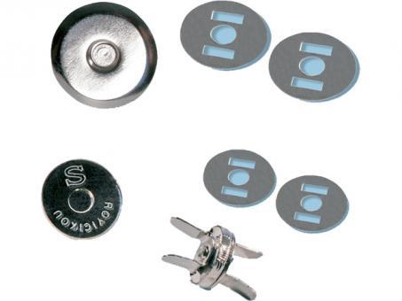 Mini Magnetverschluss 10 mm silberfarbig