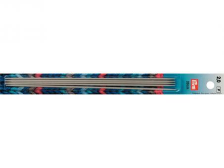 Prym Strumpfstricknadeln ALU 20 cm 2,00 mm grau