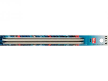 Prym Strumpfstricknadeln ALU 20 cm 3,00 mm grau