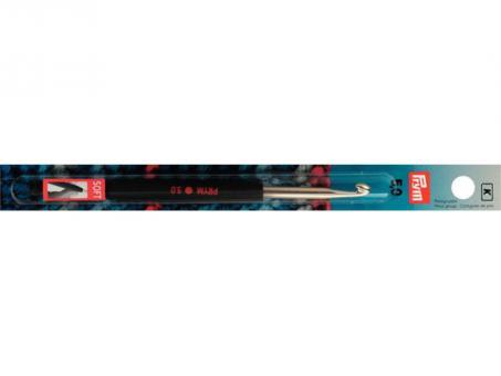 Prym Woll-Haekelnadeln Soft-Griff ALU 14 cm 5,00 mm silberfarbig