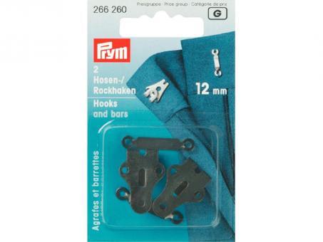 Prym Hosen-/ Rockhaken - 12mm (Schwarz)