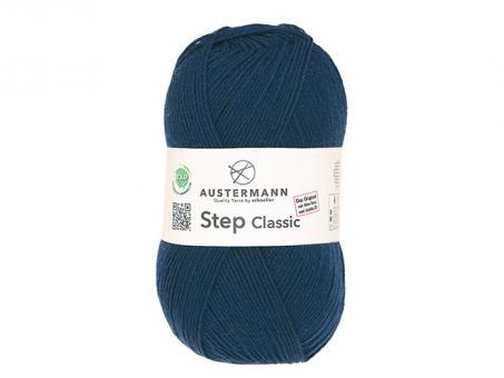 Step Classic Sockenwolle - Nachtblau