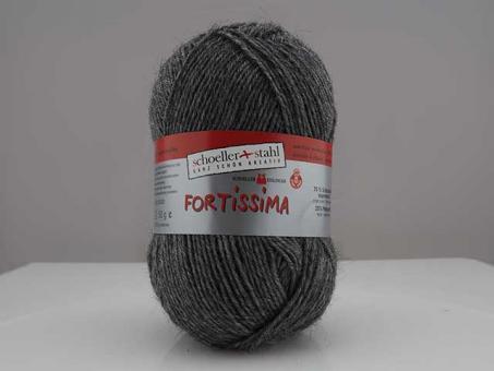Fortissima Sockenwolle - mittelgrau mel.