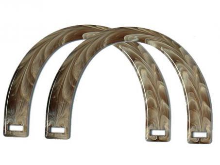 Taschengriffe paarweise , 17x12cm-horn hell
