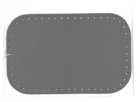 Taschenboden Ecoline 18x28cm-grau