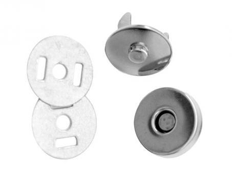 Magnetverschluß-Nickelfarbig, Ø 20mm